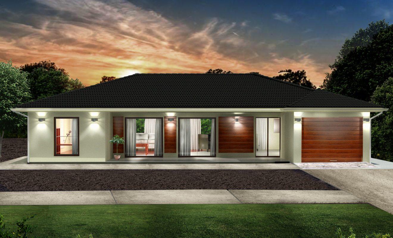 Render 3D de Casa Ecológica