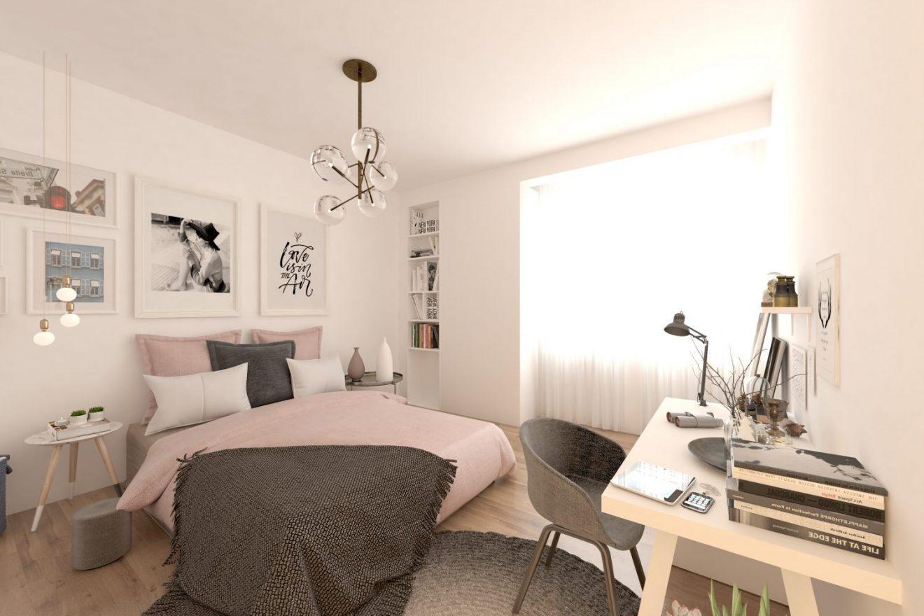 Render para inmobiliaria, interior en 3d