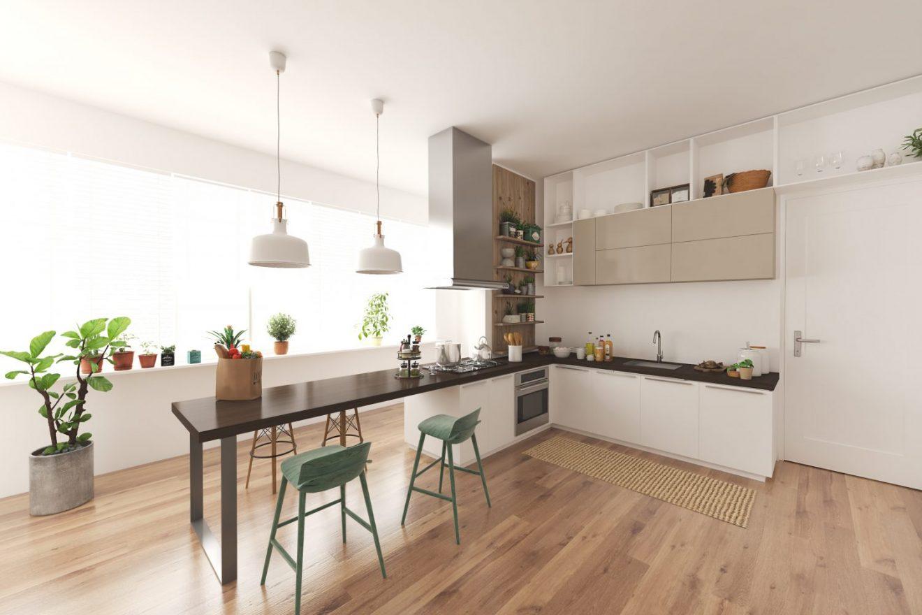 Render 3D para apartamento en Madrid