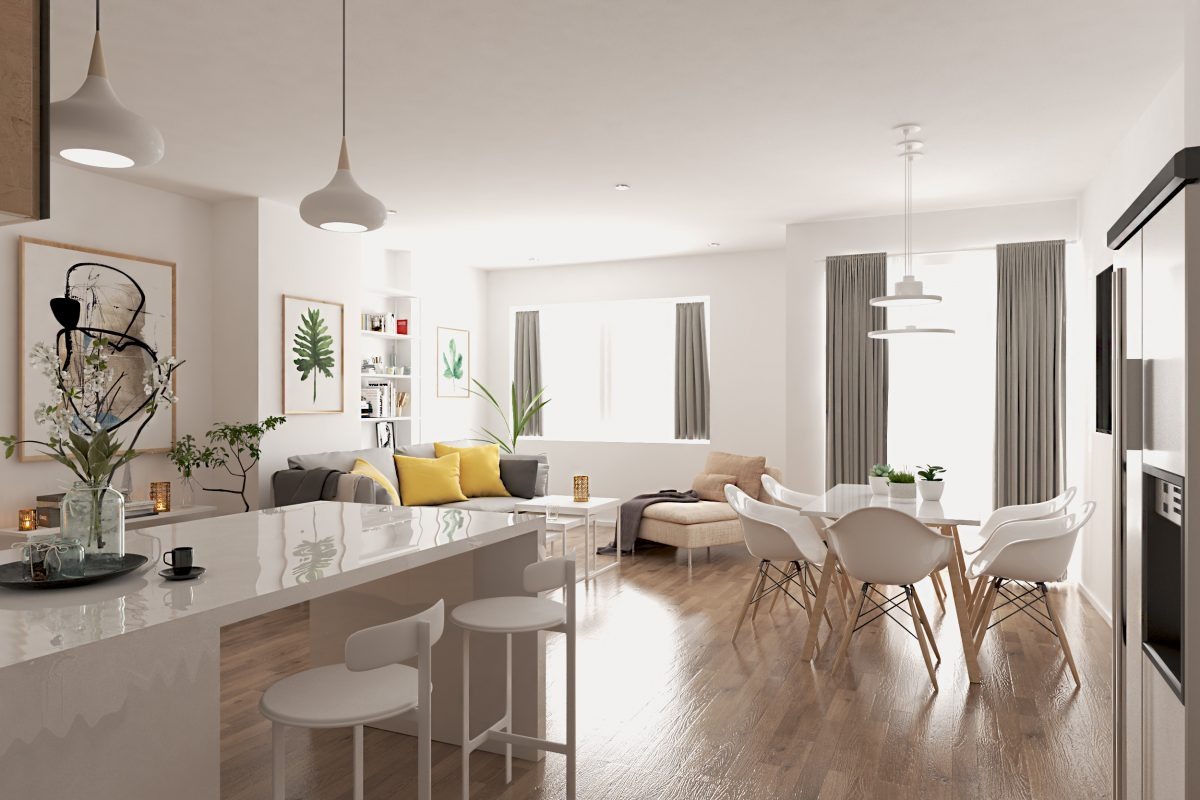 reforma en 3D para inmobiliaria en Madrid