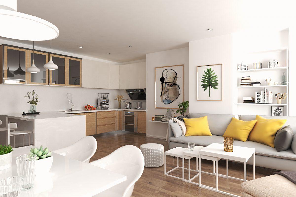 Propuesta de reforma en 3d para inmobiliaria en Madrid