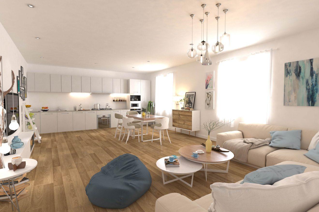 Render de interiores por agencia de inmobiliaria en Madrid