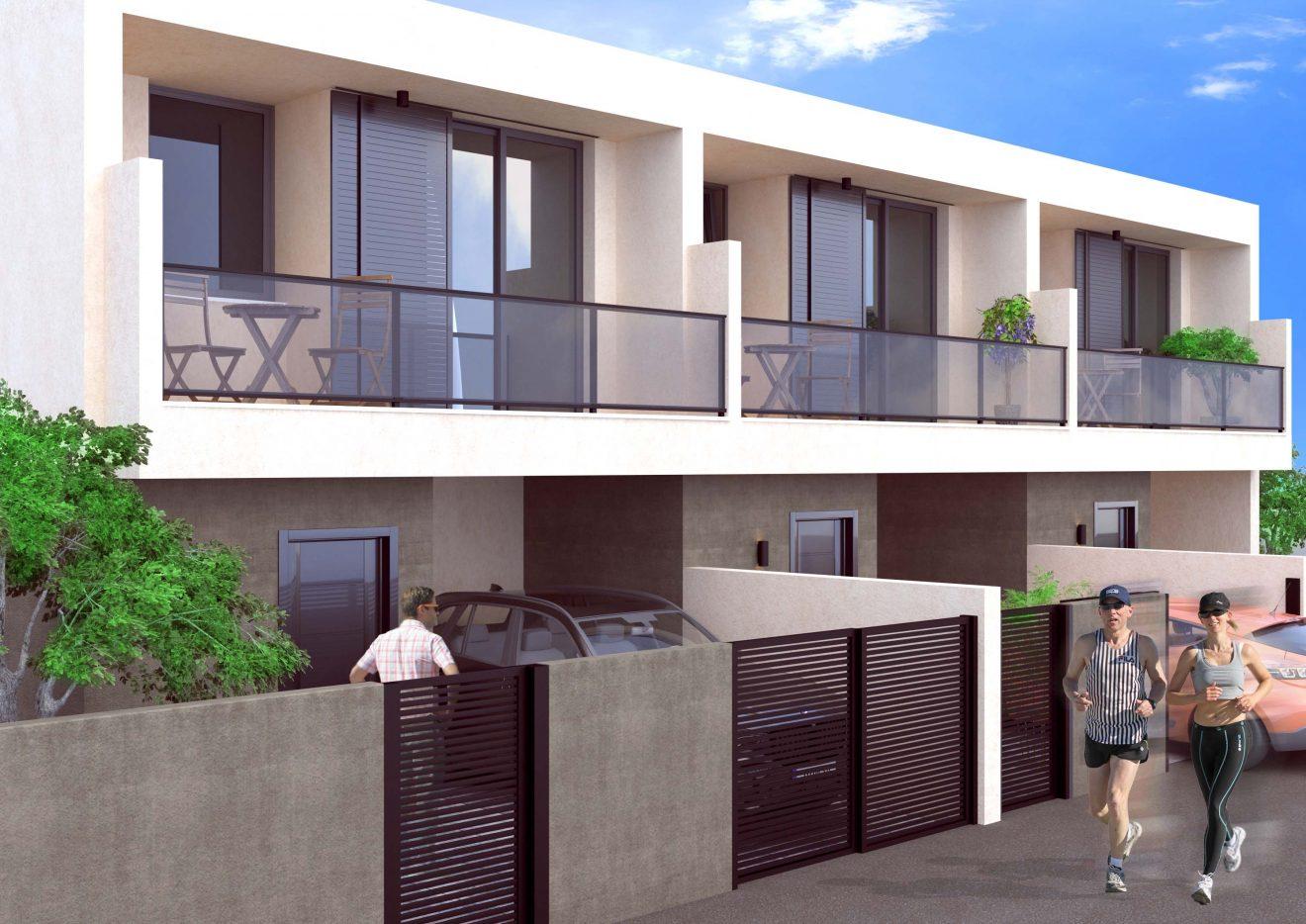 Render de fachada de edificio en Canarias