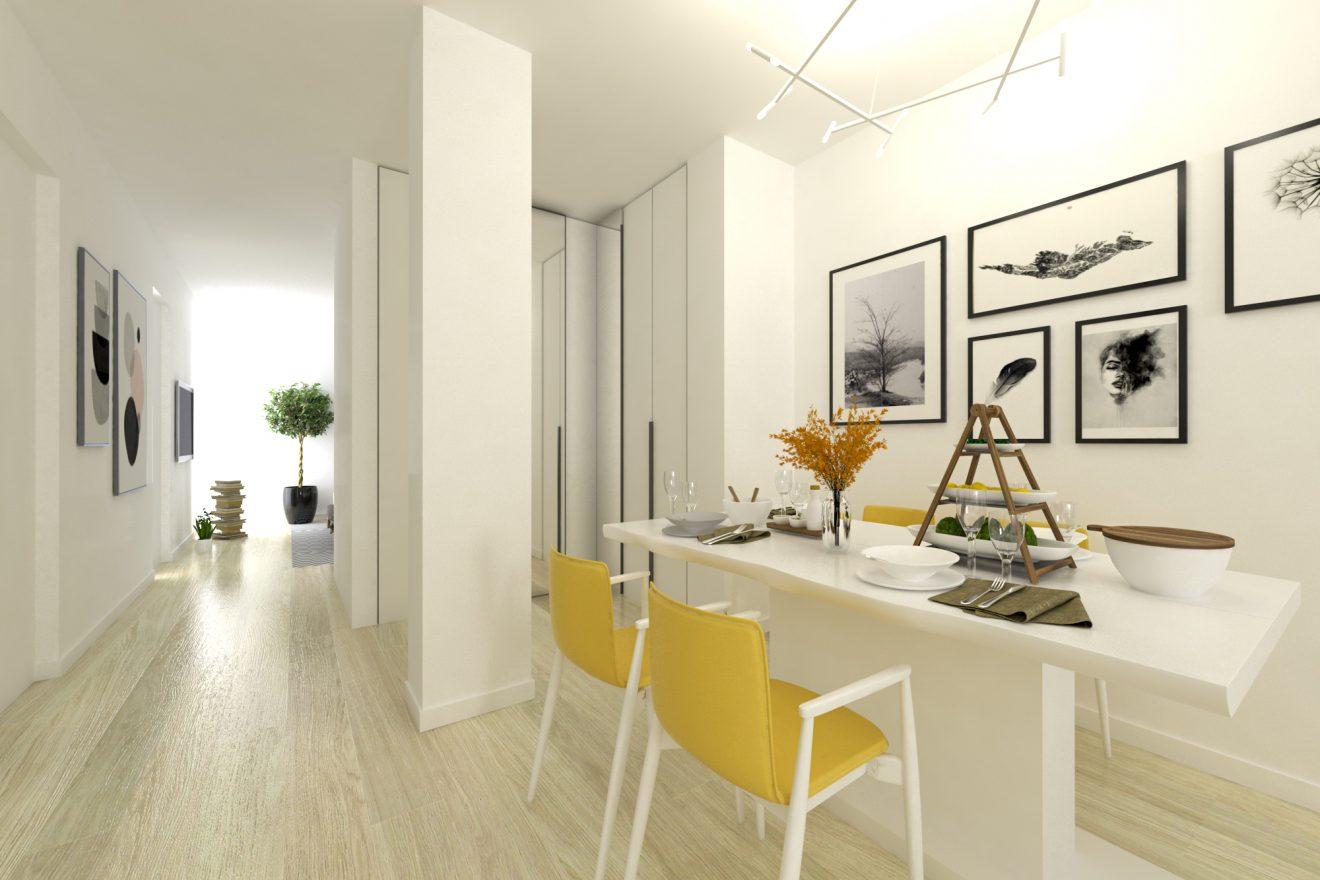 Infografía 3D propuesta de reforma, Inmobiliaria de Madrid
