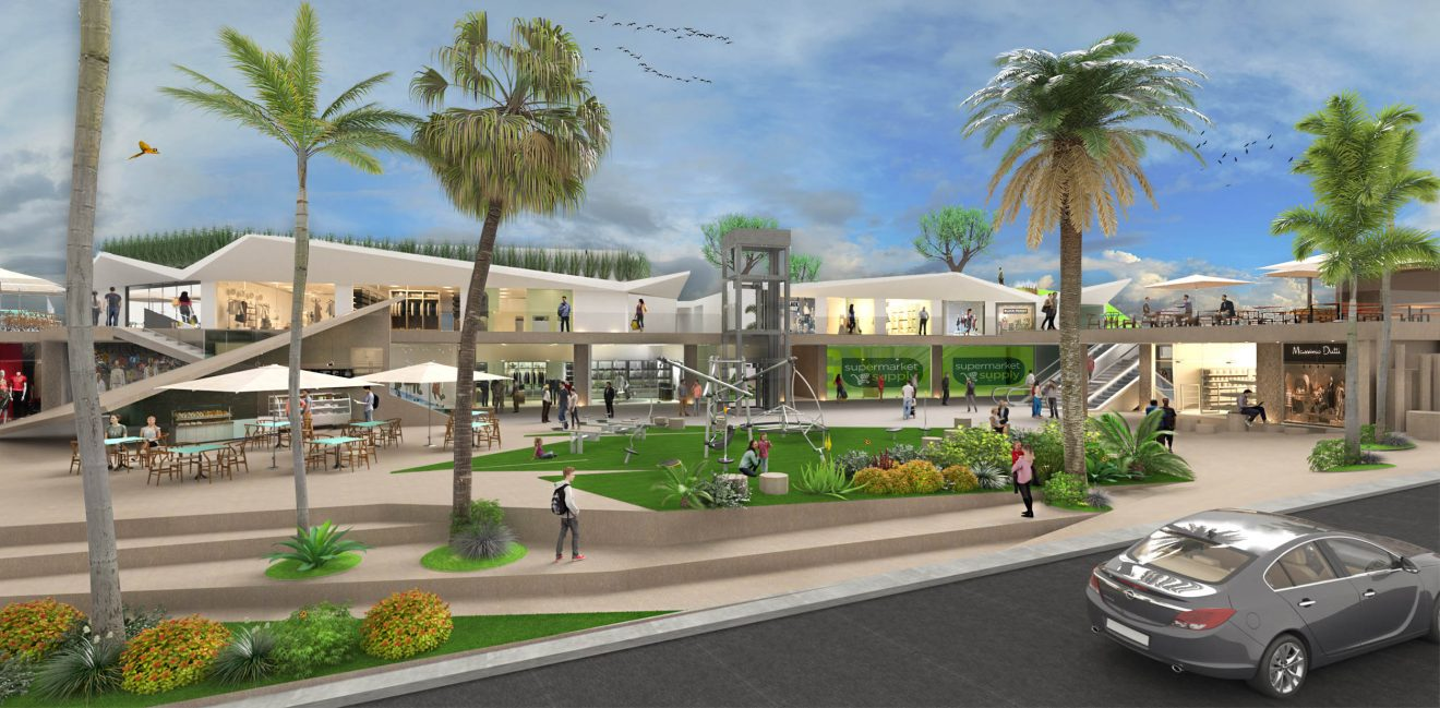 Търговски център в 3D размери
