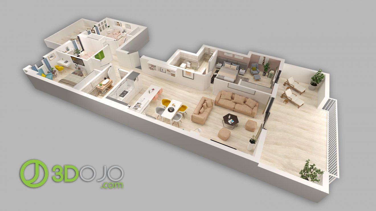 Planos 3d para inmobiliarias