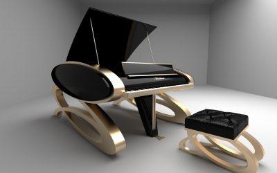 Diseño de Piano en 3D