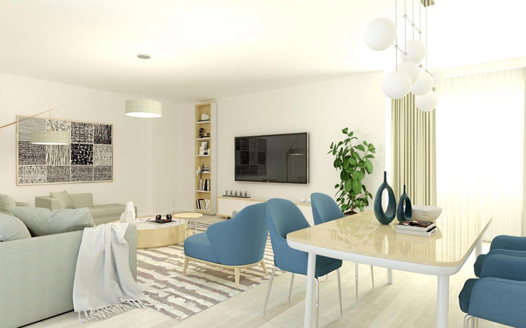 Infografía 3D de salón de piso / Mejor precio de Infografías 3D y Calidad