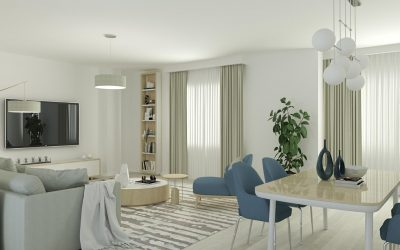 Salon de piso Infografía 3D