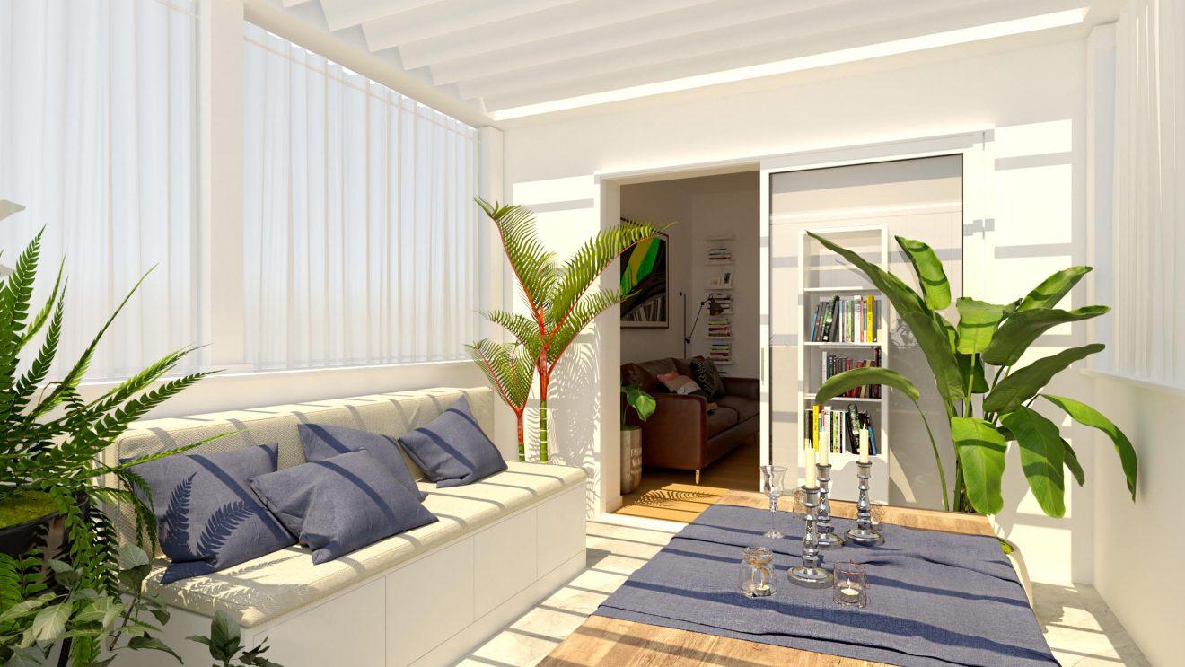 Proyecto 3D de interior terraza