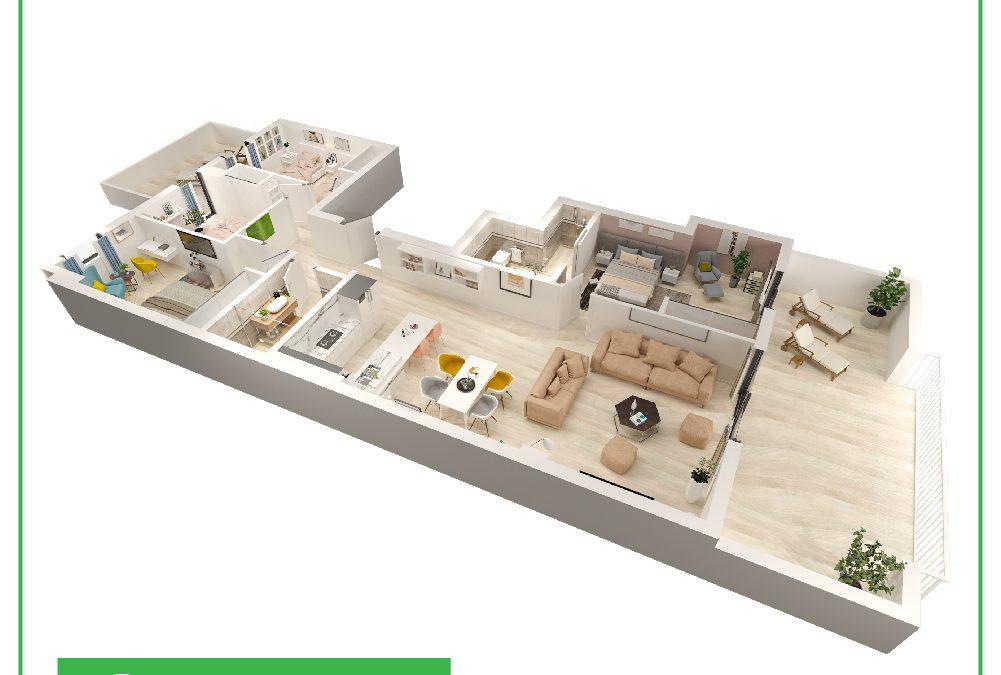 Plano de distribución en 3D España | Ofrecemos mejor precio de Infografías 3D