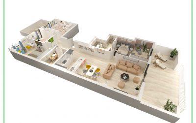 3D етажни планове Испания. Ние предлагаме най-добри цени за 3D Инфографика