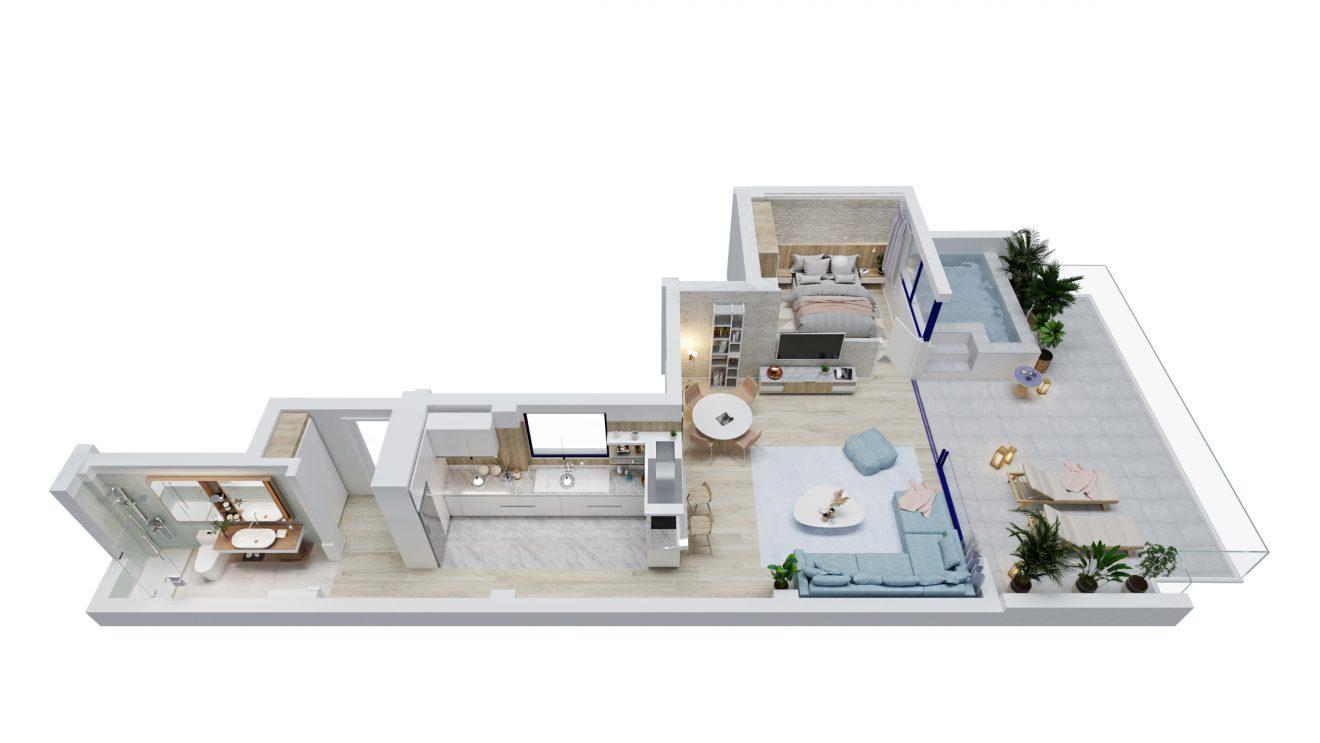 Planos 3D de distribucion en Malaga