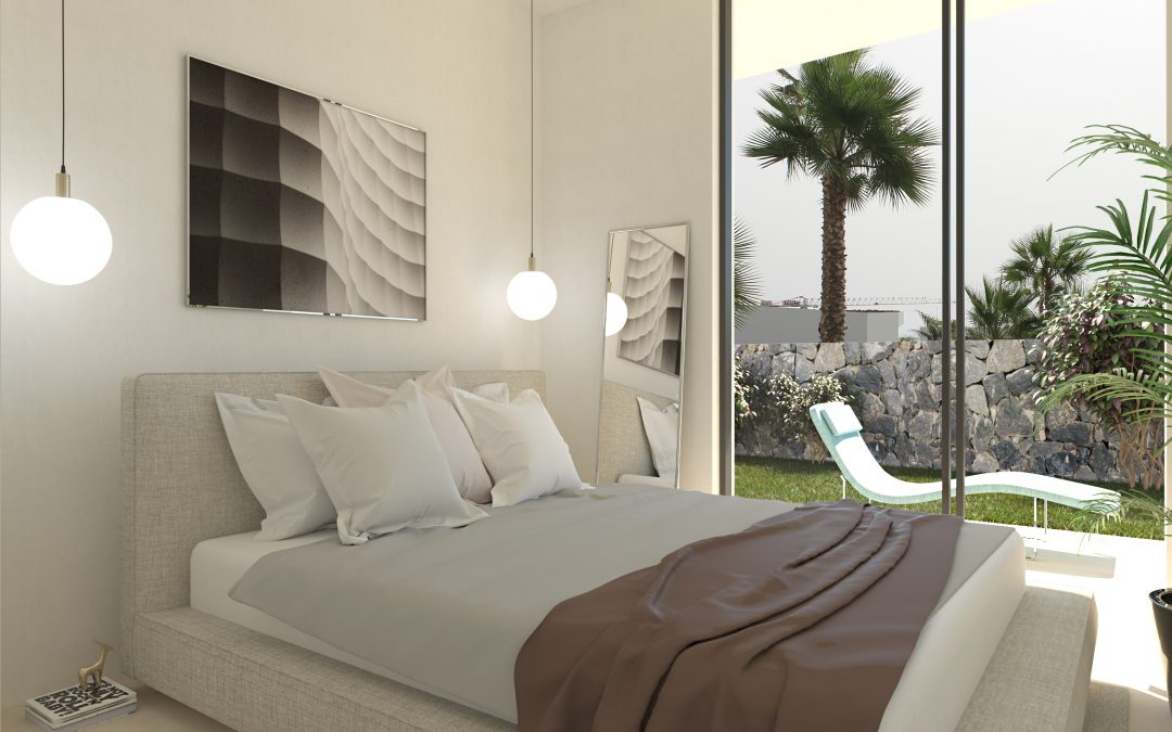Infografía de un dormitorio en 3D