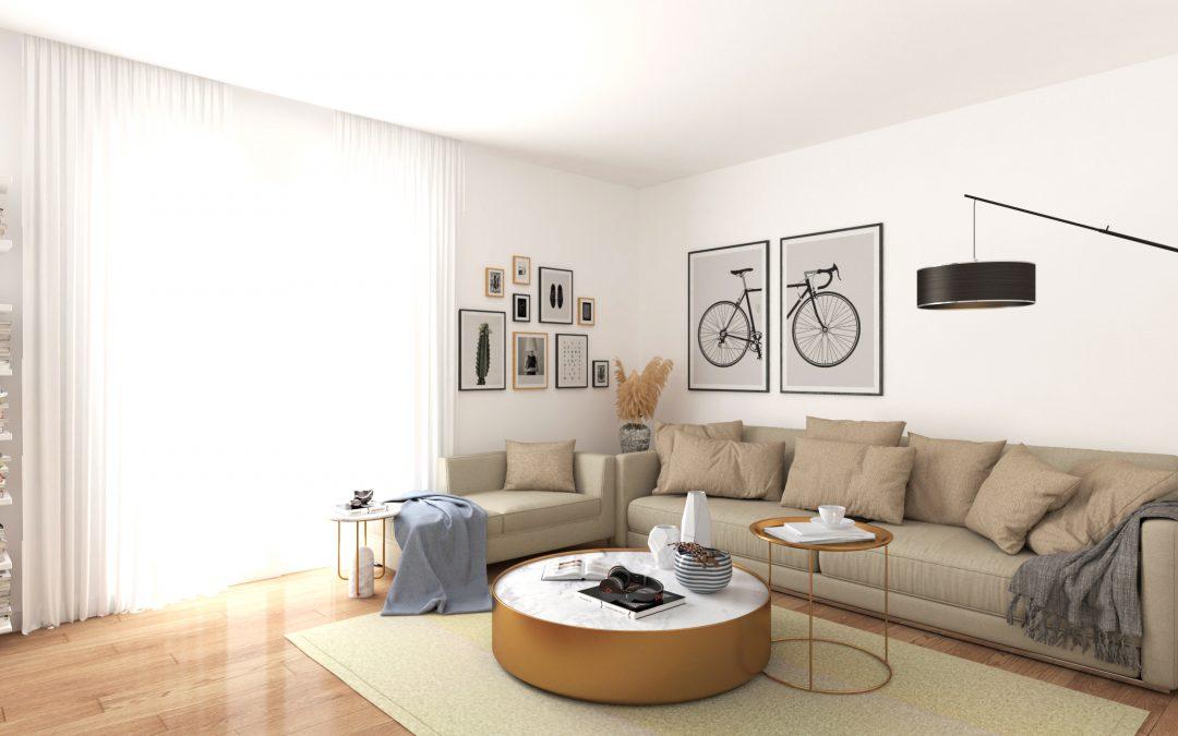Un amplio salón 3D de Madrid