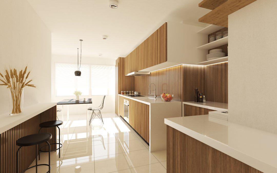 Infografía 3D de cocina