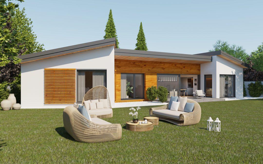 Infografía 3d para fabricante de casas de madera