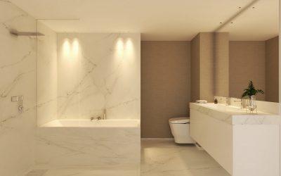 Infografía 3D de baño echo para estudio de intriorismo de Madrid