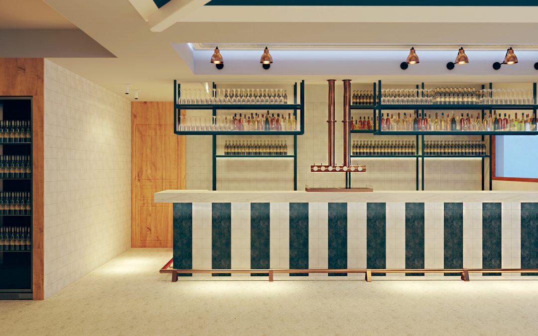 Proyecto 3D de Bar para un estudio de interiorismo de Madrid