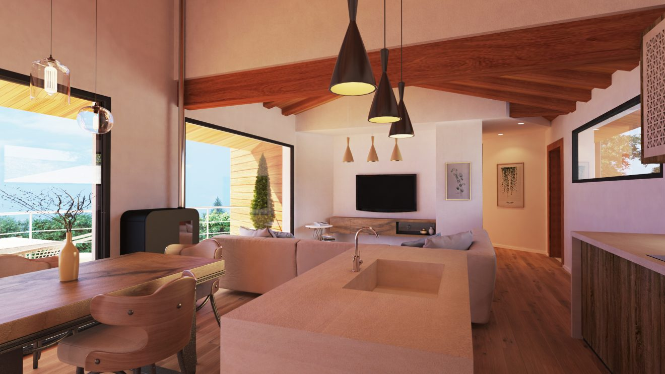 Visualizaciones 3D de casa interior