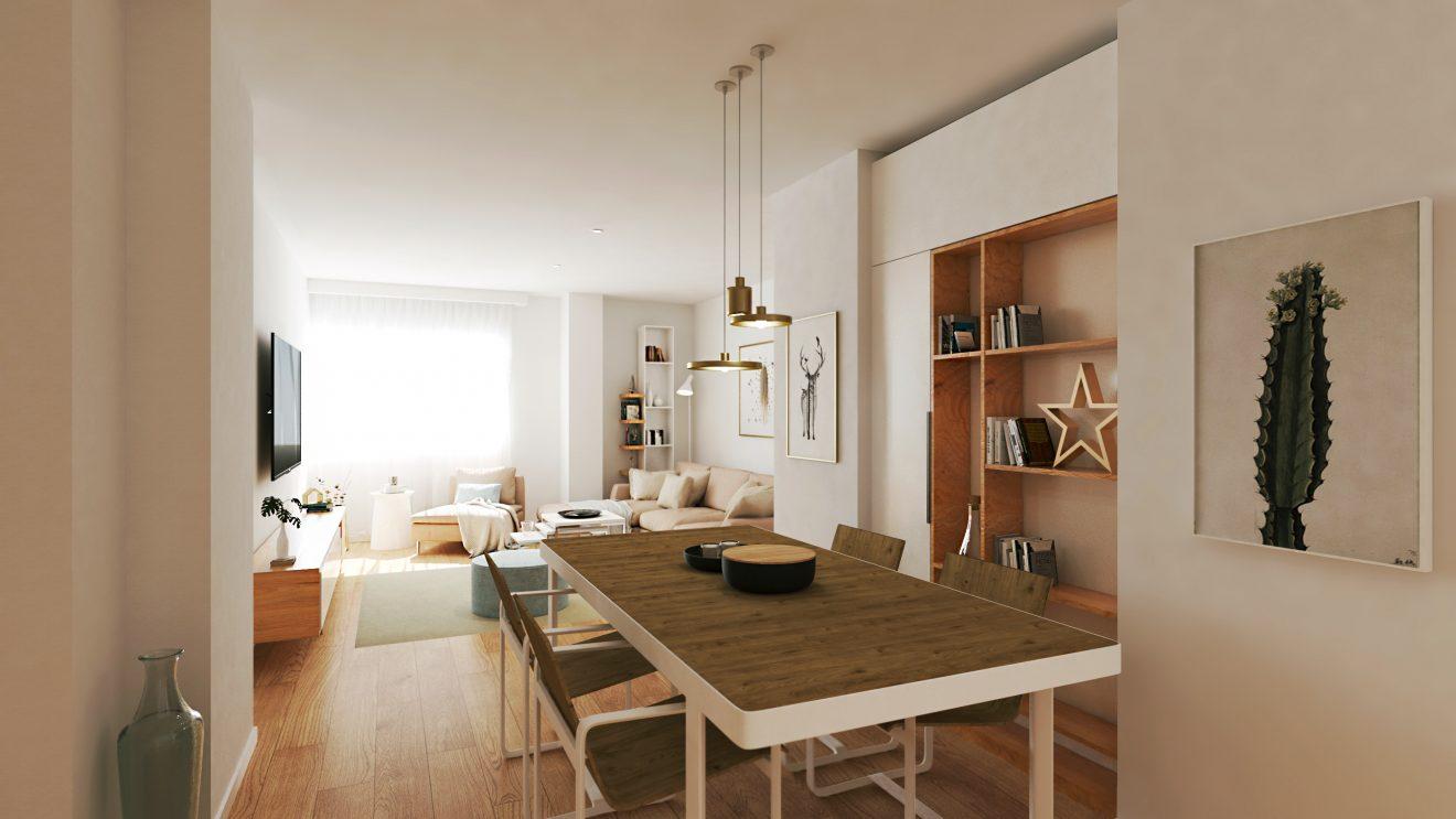 Render 3D para promociones inmobiliarias