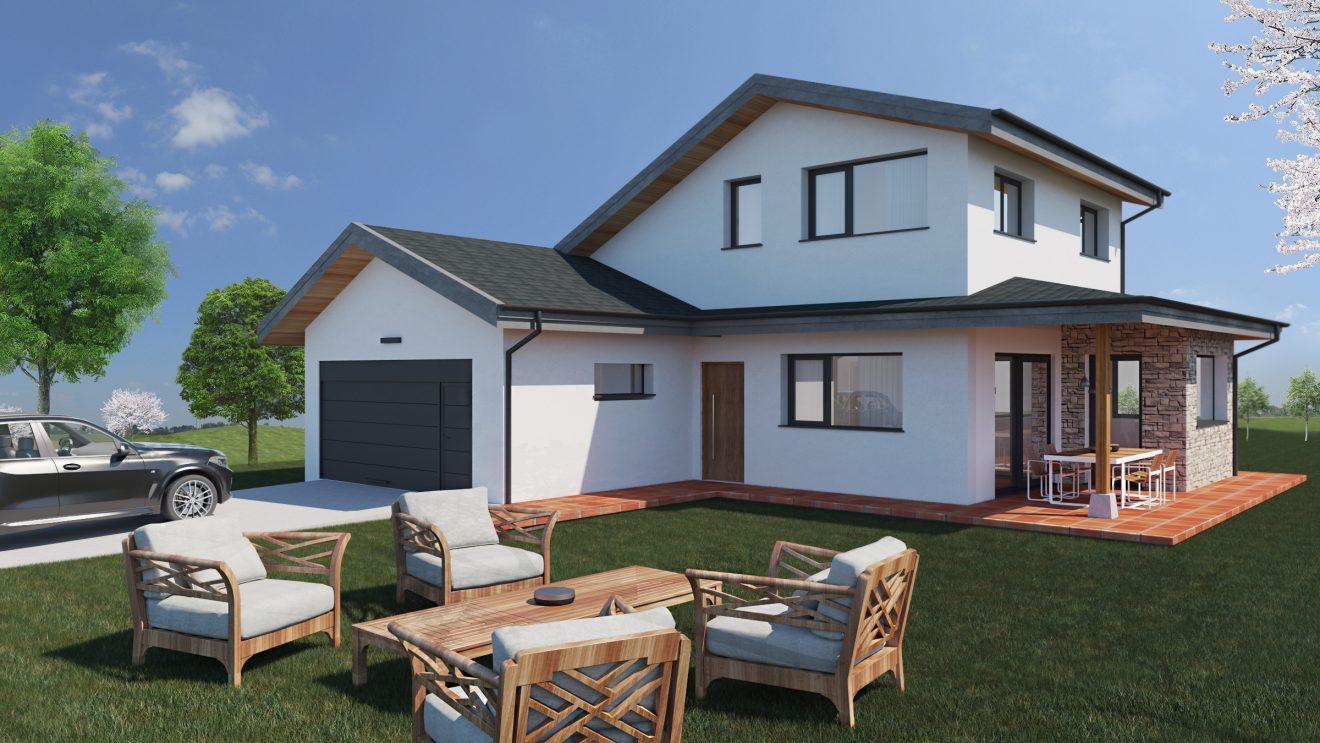 Render de Casas prefabricadas