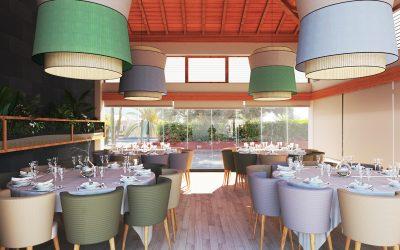 Render de Restaurante para estudio de Interiorismo
