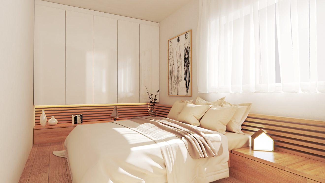 Infografía 3D de dormitorio