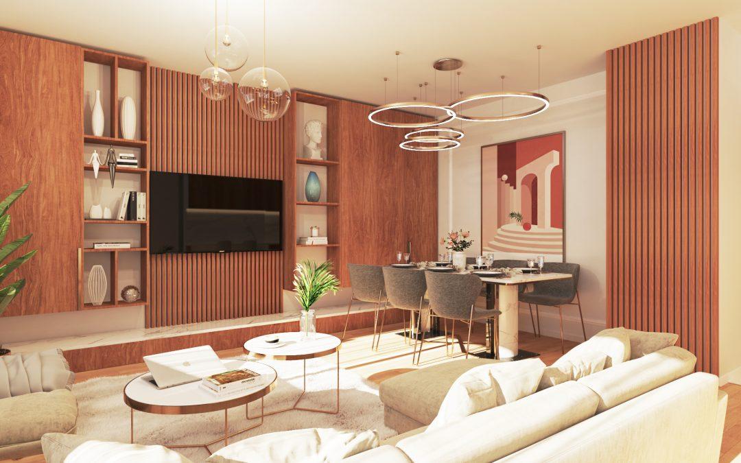 Renders de Interiorismo 3D para inmobiliaria en Valladolid