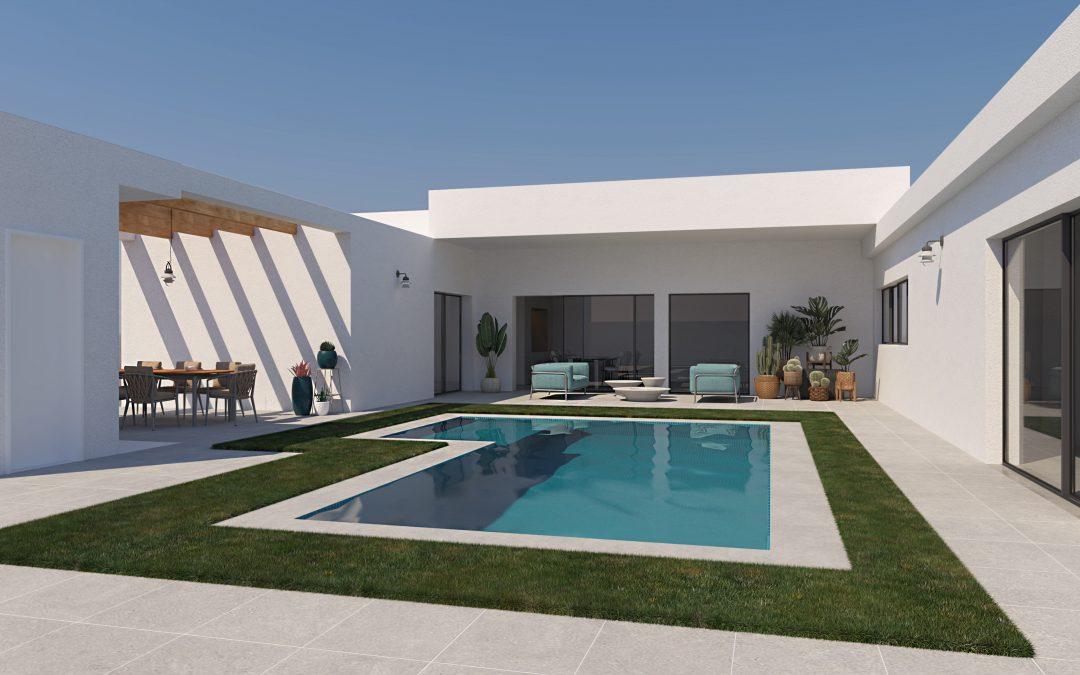 Render 3D Аrquitectónico Мinimalista