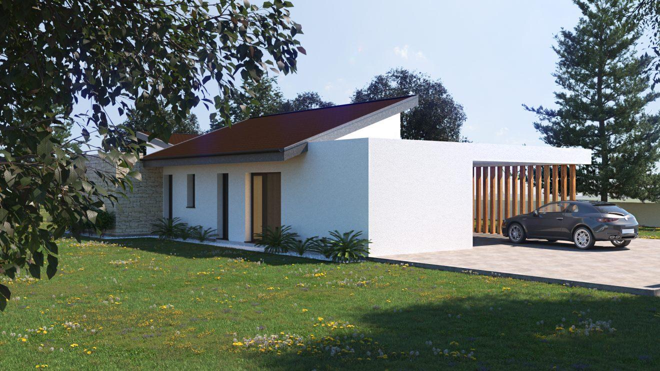 Renders 3D casa de madera