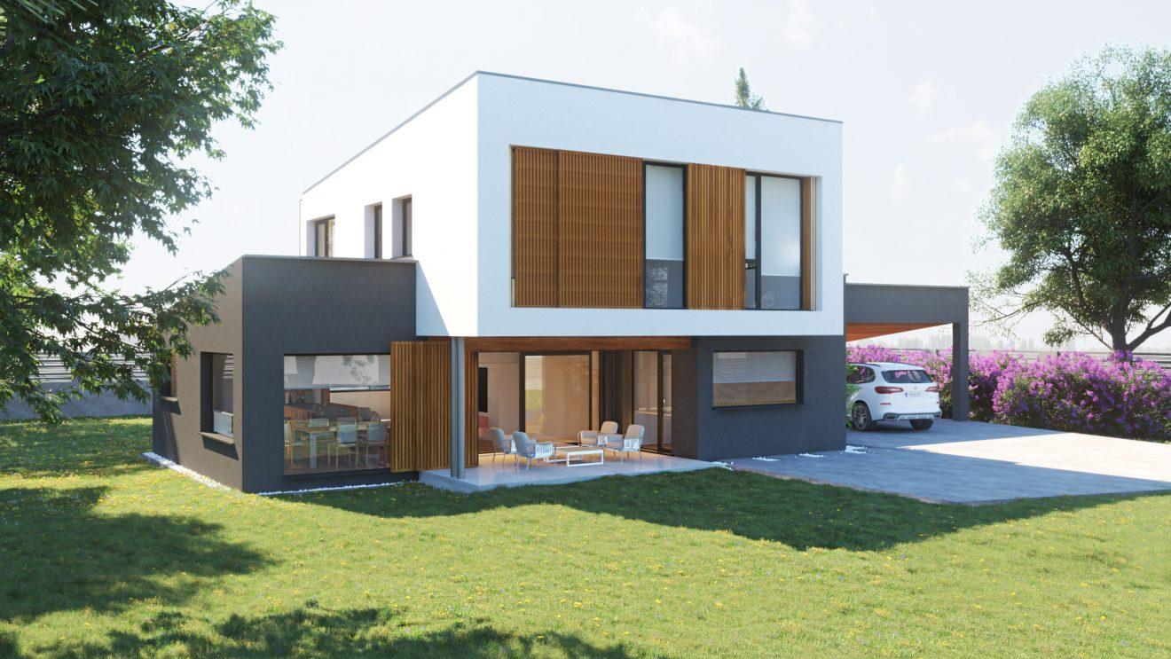 casa de madera 3d