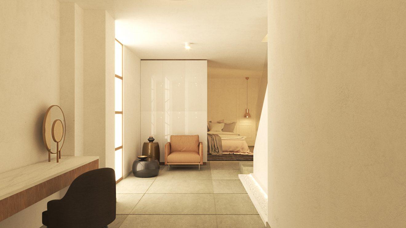 Render 3D dormitorio