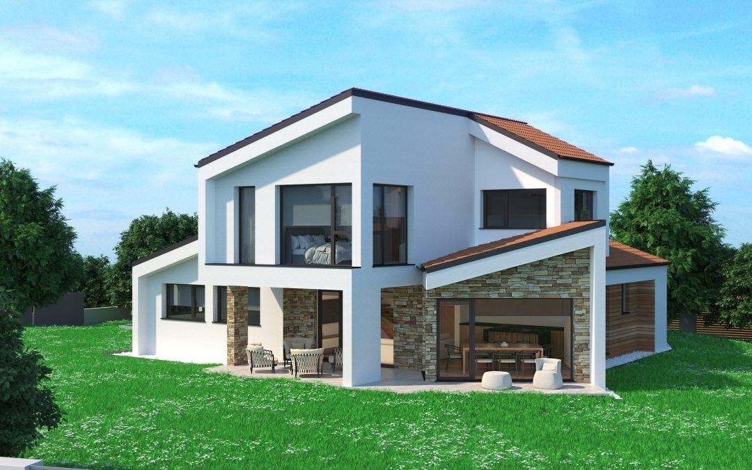 Renders 3D OJO de casa de madera