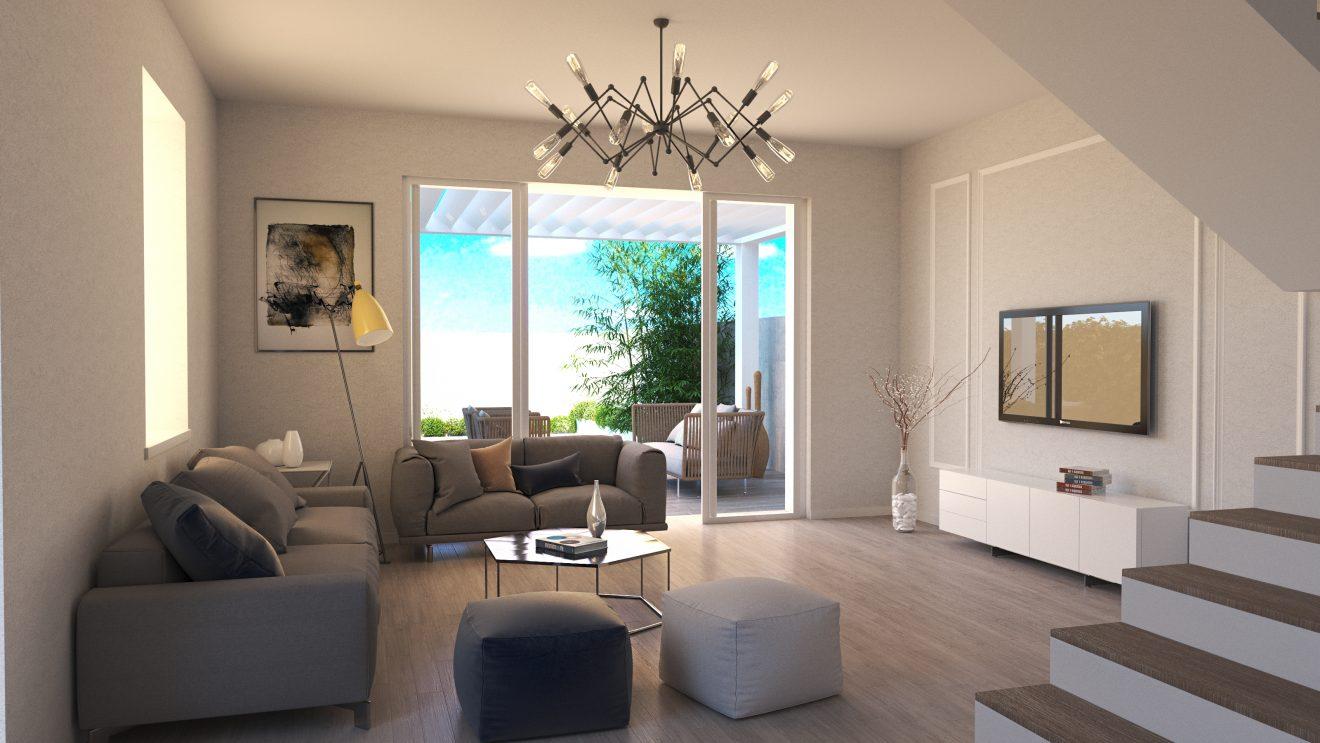 Renders 3d para inmobiliarias en Madrid con deiseño de interior