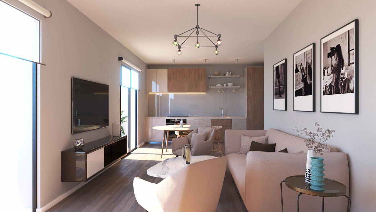 Equipamiento de Apart hotel interiorismo con muebles de primera calidad