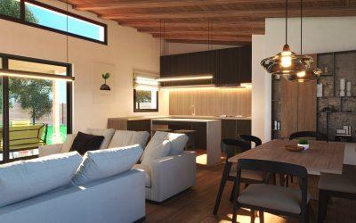 Infografías 3d para fabrticante de casas de madera