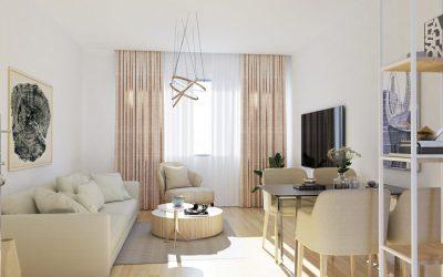 3D дизайн интерьера квартиры в Овьедо