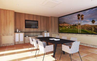 Конферентна зала в 3D в Тенерифе, за студио за интериорен дизайн. Всичко направено онлайн
